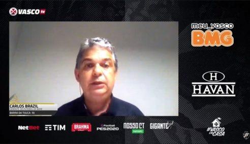 Carlos Brazil fala sobre trabalho das categorias de base em live com a Vasco TV