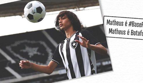 Joia botafoguense assina seu primeiro contrato profissional com o clube