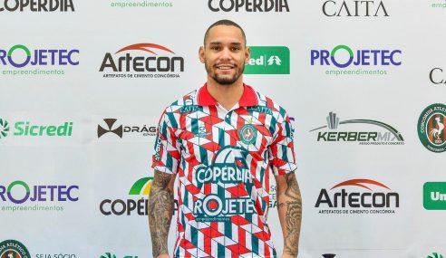Concórdia-SC anuncia contratação de atacante de 20 anos