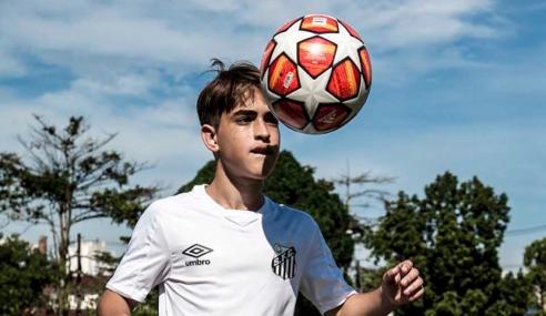 Promessa de 14 anos treinará com a equipe sub-17 do Santos