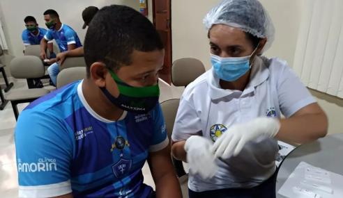 Elencos sub-17 de Santos-AP e Oratório passaram por exames de COVID-19