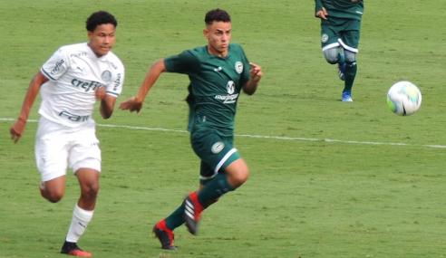 Com gol nos acréscimos, Palmeiras vence Goiás pelo Brasileirão sub-20