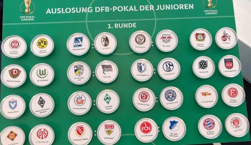 Definidos os confrontos da primeira fase da Copa da Alemanha Sub-19
