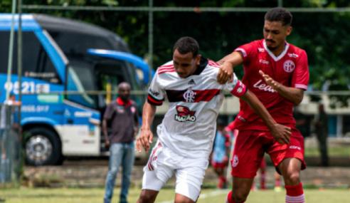 Invictos na Taça Rio sub-20, Flamengo e America empatam por 2 a 2
