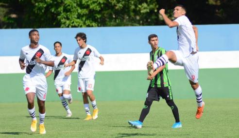 Vasco goleia América-MG e abre vantagem no G-4 do grupo no Brasileirão sub-17