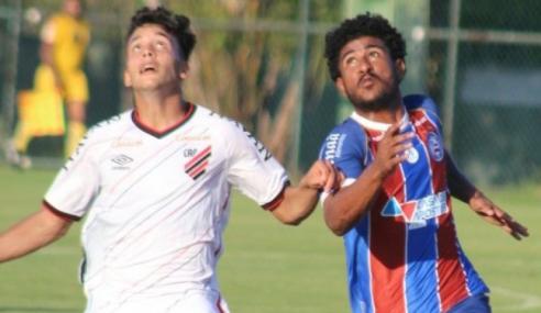 Em jogo de cinco gols, Athletico-PR vence Bahia pelo Brasileirão sub-20