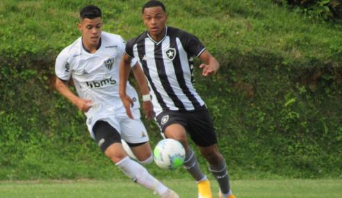 Em jogo equilibrado, Botafogo e Atlético-MG empatam pelo Brasileirão sub-17