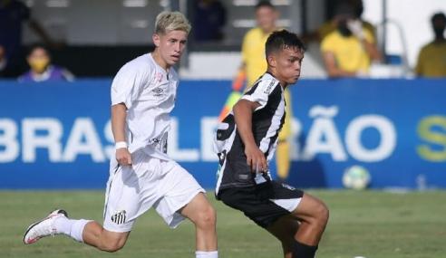 Santos sai na frente, mas cede empate ao Ceará pelo Brasileirão sub-17