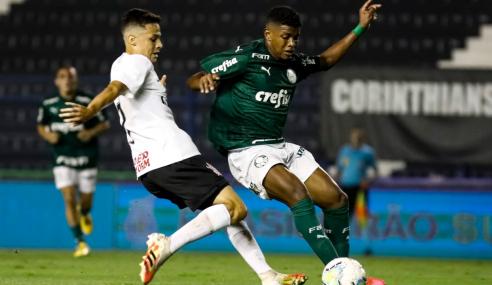 Palmeiras faz três no Corinthians no Parque São Jorge pelo Brasileirão sub-20