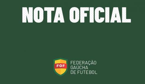 Federação Gaúcha cancela competições de base em 2020