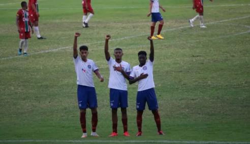 De virada, Bahia derrota Fluminense-PI e se classifica na Copa do Brasil sub-20