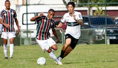 Fluminense marca nos acréscimos e empata com o Coritiba pelo Brasileirão de Aspirantes