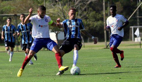 Grêmio e Bahia empatam e seguem na parte de baixo do Brasileirão sub-20