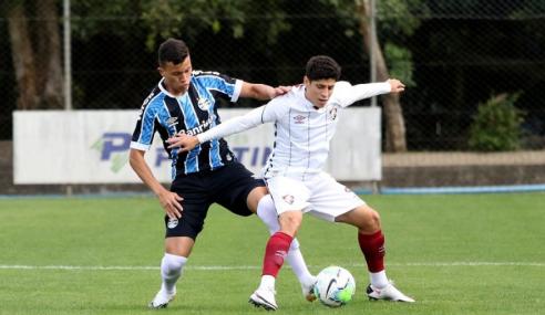 Fluminense vence Grêmio fora de casa e assume a liderança do Brasileirão sub-20