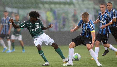 Em duelo de invictos, Grêmio se impõe fora de casa e bate Palmeiras pelo Brasileirão sub-17