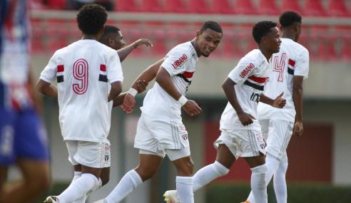 São Paulo atropela União ABC-MS e avança na Copa do Brasil sub-20