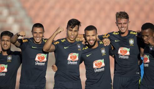 Seleção brasileira sub-20 vence jogo-treino contra o Corinthians sub-23
