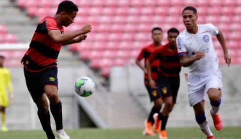 Sport Recife e Bahia empatam e não embalam no Brasileirão sub-17
