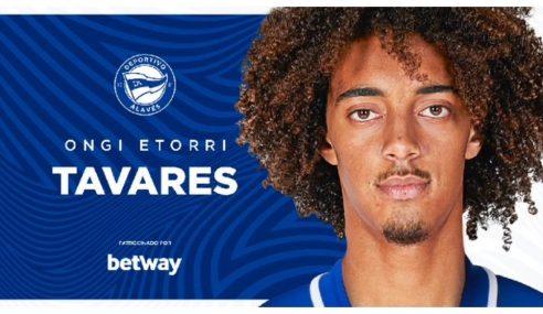 Benfica-POR empresta jovem Tomás Tavares ao Alavés-ESP