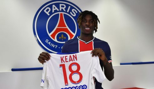 Moise Kean é emprestado pelo Everton-ING ao PSG-FRA