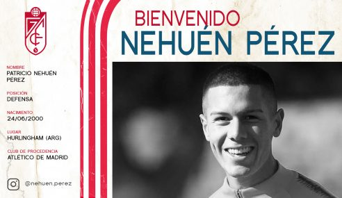 Nehuén Pérez é emprestado pelo Atlético de Madrid-ESP ao Granada-ESP