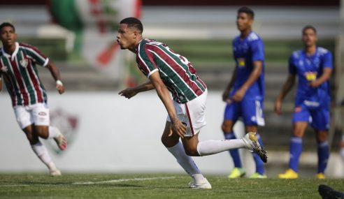 Fluminense aplica goleada no Cruzeiro e pula para a ponta no Brasileirão sub-20