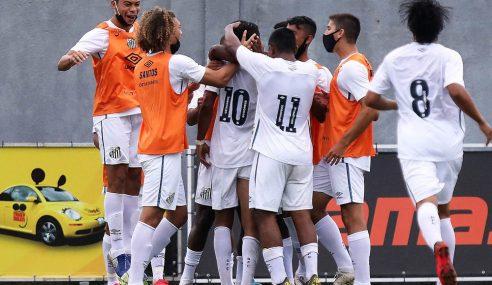 Santos aproveita vantagem numérica para vencer o Vasco no Brasileirão sub-20
