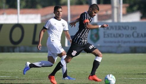 Corinthians vira sobre o Ceará com gol nos acréscimos pelo Brasileirão sub-20