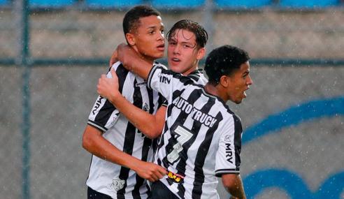 Atlético-MG vence, mantém vice-liderança e deixa Santos na lanterna do Brasileirão sub-20
