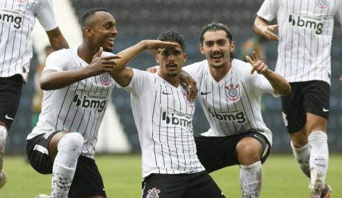 Corinthians vence Sampaio Corrêa e fica com a ponta do Grupo B no Brasileirão de Aspirantes