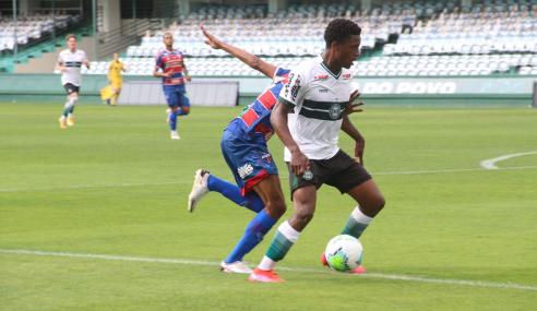 Coritiba cede empate ao Fortaleza pelo Brasileirão de Aspirantes