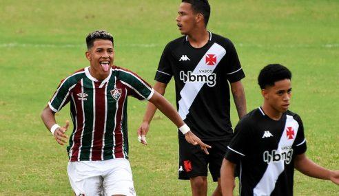 Com gol no fim, Fluminense bate Vasco na ida das quartas de final do Brasileirão sub-17