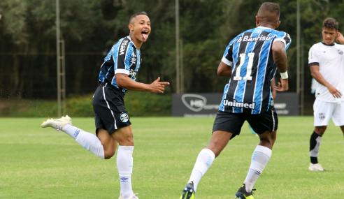 Grêmio bate Ceará e larga com vitória na segunda fase do Brasileirão de Aspirantes