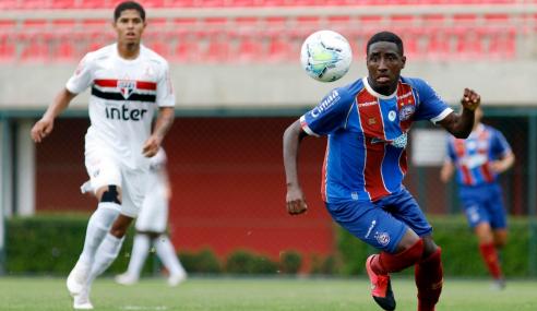 Copa do Brasil sub-20: São Paulo arranca empate com o Bahia na ida das quartas de final