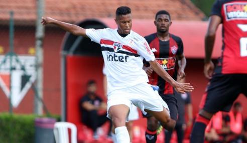São Paulo abre 2 a 0, mas cede empate ao Vitória pelo Brasileirão sub-20