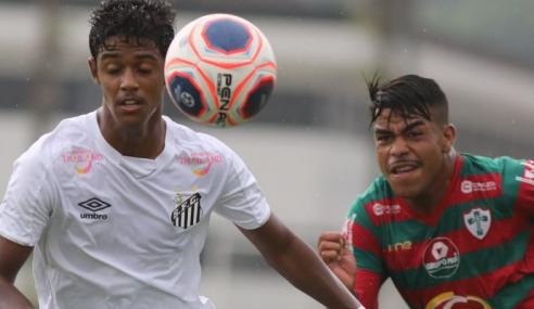 Santos fica no 0 a 0 com a Portuguesa e empata quarta seguida no Paulistão sub-20