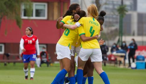 Seleção Feminina sub-17 vence dois amistosos com o Chile
