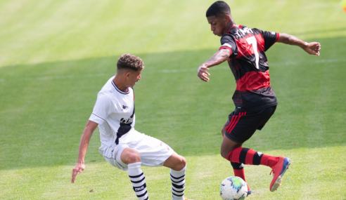 Vasco sai atrás, mas busca empate com o Flamengo pelo Brasileirão sub-20