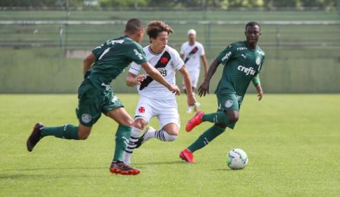 Golaço dá vitória ao Palmeiras sobre o Vasco pelo Brasileirão Sub-20