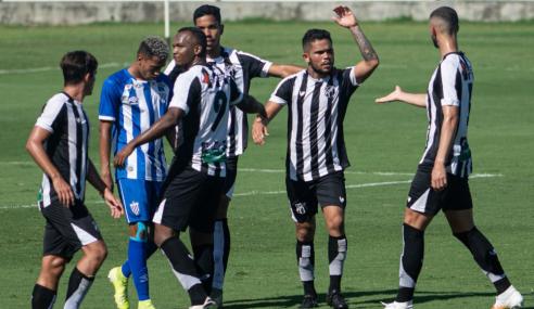 Ceará volta a vencer Avaí e fica perto das semifinais do Brasileirão de Aspirantes