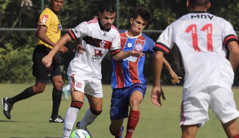 Bahia marca no fim e vence Flamengo pelo Brasileirão Sub-20