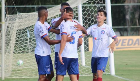 Bahia vence Palmeiras e larga em vantagem nas semifinais da Copa do Brasil Sub-20