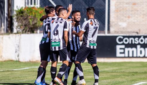 Wesley marca no início e Ceará vence Avaí pelo Brasileirão de Aspirantes
