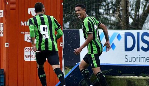 América-MG resolve no primeiro tempo e vence Chapecoense pelo Brasileirão Sub-20