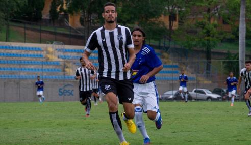 De virada, Ceará quebra jejum e passa Cruzeiro no Brasileirão Sub-20