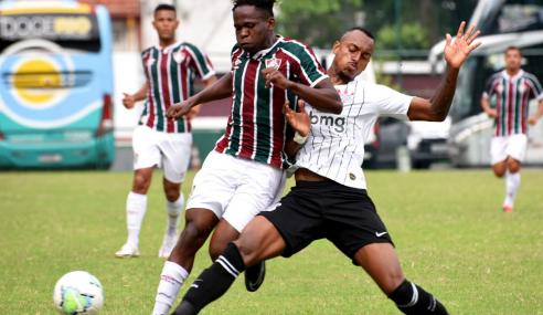 Fluminense e Corinthians empatam e mantêm grupo D embolado no Brasileirão de Aspirantes
