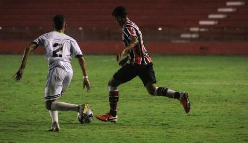 Santa Cruz resolve no início do segundo tempo e bate Globo-RN pela Copa do Nordeste Sub-20