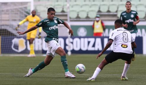 Palmeiras e Atlético-MG não saem do zero na ida das quartas do Brasileirão Sub-20