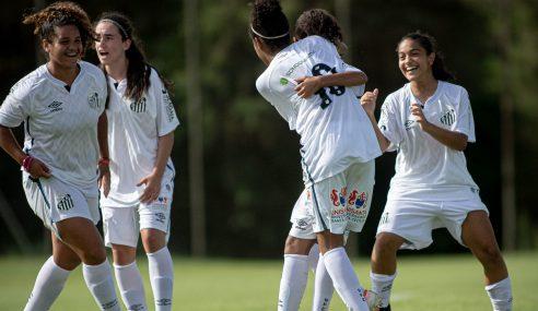 De virada, Santos goleia Audax e vai às semifinais do Brasileirão Feminino Sub-16