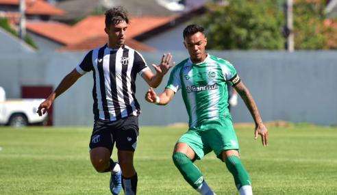 Fora de casa, Ceará abre boa vantagem sobre o Juventude nas semifinais do Brasileirão de Aspirantes
